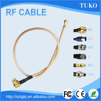 Factory Price 3M RG174 cable flexible coaxial cables mcx connector