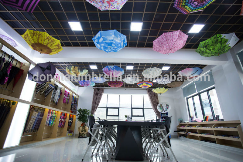 Clear Transparent Plastic Beautiful Full Printed Dome Umbrella
