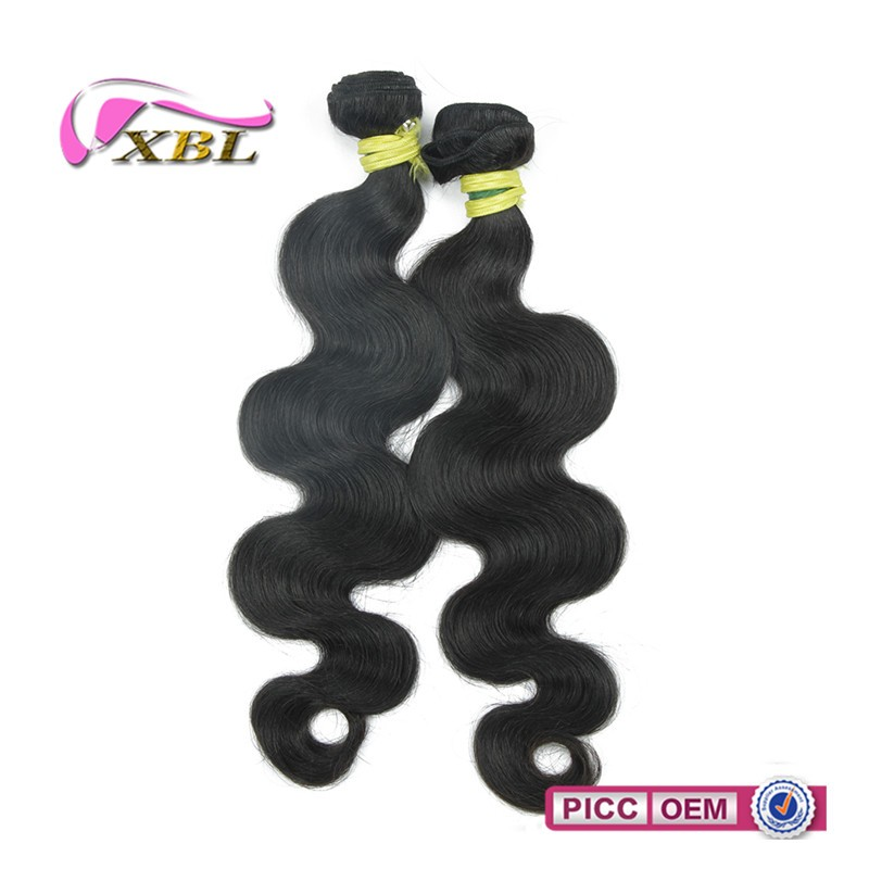 Double weft wholesale human Indian Remy Hair 18' Weave 1B