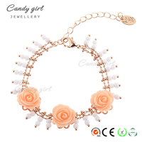 Candygirl Brand Flowers Adornment Women Bangle