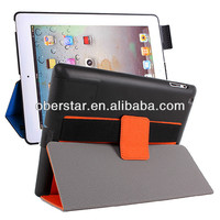 Promotion lowest price best quality leather with multi-functions Smart Cover for apple ipad 4 case perfect fit for ipad 2 3 4
