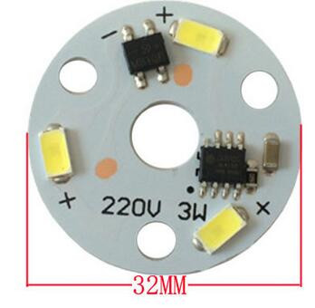 3w LED Module AC 220V Driverless LED PCB Board For Bulb/Down Light