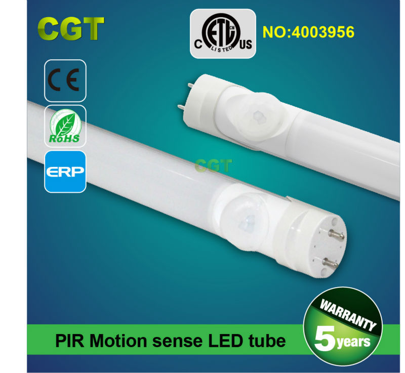 Motion sense T8 LED tube PIR sensor garage tube light