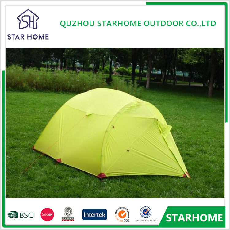 hot sale 3 - 4 Person aluminum rod 4 season fishing camping ultra light 20D silicon coated outdoor beach tent