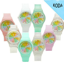 22mm Silicone Watch Band Cheap Plastic Colorful Watches For Girls
