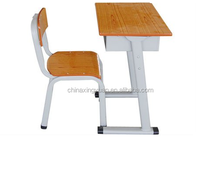 Simple design used middle school desk and chair with metal frame