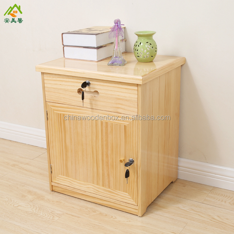 Simple style cheapest wooden furniture bedstand