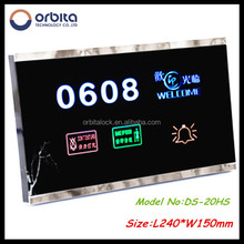 Orbita eco-friendly LED digital hotel room electronic touch doorbell switch