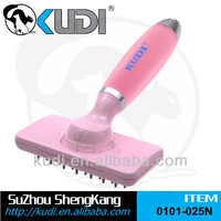 Pet massage brush, Rotatable head massage brush with Silica Gel Handle
