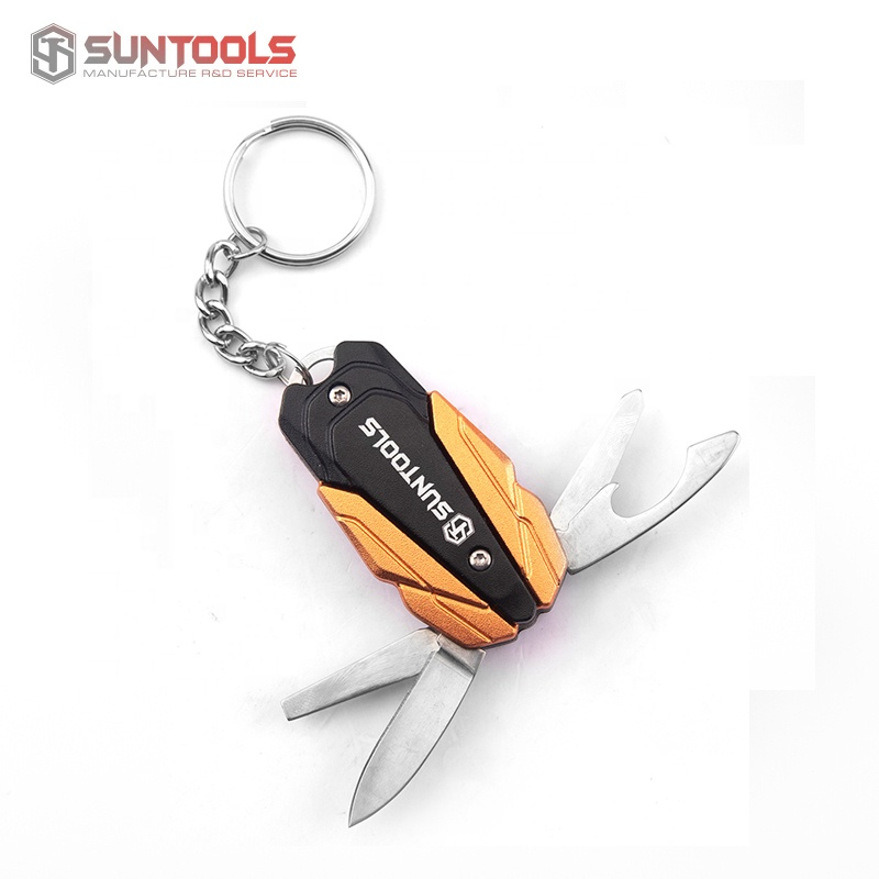 2019 new arrival 5 in 1 multiple function small gift knife with aluminum handle