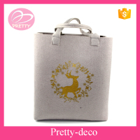 SGS approved wholesale laser cut wool felt fabric bags with handle