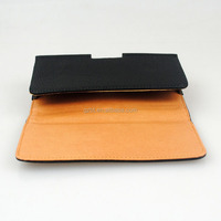 3.5 Inch Black Litchi PU Leather Pouch Universal Mobile Phone Pouch for iphone 4gs