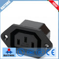 black waterproof electrical 3 phase plug and socket with 3 pin ac socket
