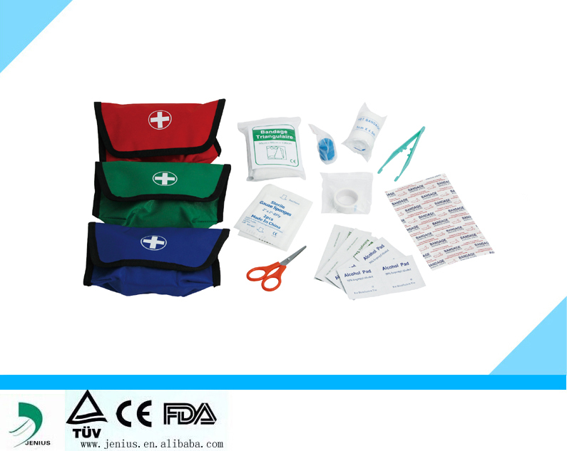convenient to carry first aid kit,travel first aid kit bag,mini CE/FDA first aid kit
