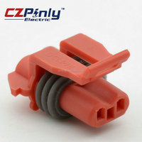 High quality 2P series female/jack 2hole flange solder connector