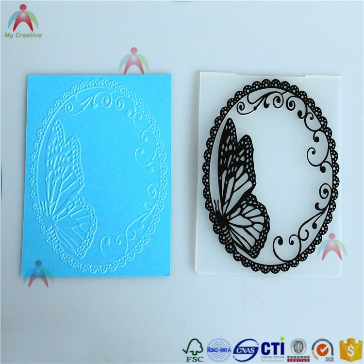 2017 PP plastic specialied in original design embossing folder with hign quality