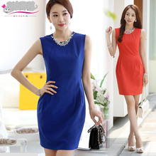 WA1297 2015 summer new Korean brand aristocratic ladies sleeveless formal dress