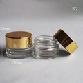 5ml glass eye cream jar with gold lids