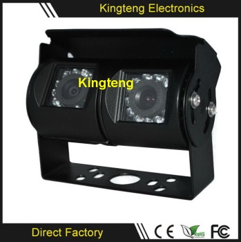 KT-907 Mimi Rear View CCD Car Camera Dual Lens Vehicle Car Camera For Heavy Duty