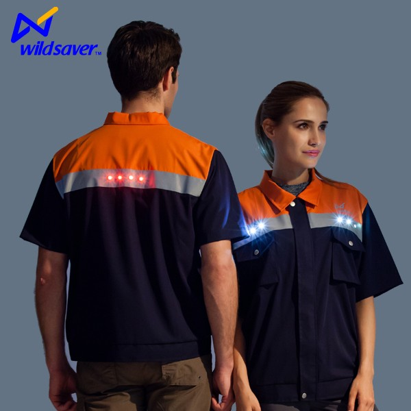 Cheap reflective safety high visibility led t shirt wholesale