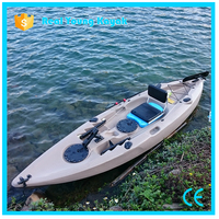 Single Sit on Top Ocean Jet Kayak Fishing Boats Plastic Canoe