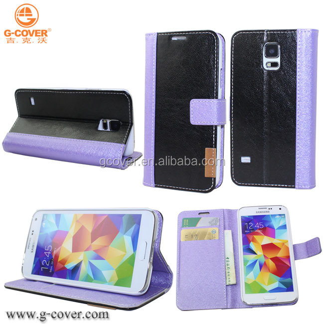 Wholesale Luxury the PU leather case for samsung galaxy S5 i9600