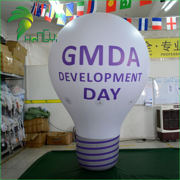 PVC Big Inflatable Promotional Bulb Shaped Balloon