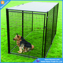 Medium metal outdoor dog kennels direct factory / large outdoor durable metal dog run kennel