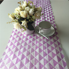 Light purple striangle flower wrapping paper 100% polyester long fiber material for Valentine's Day