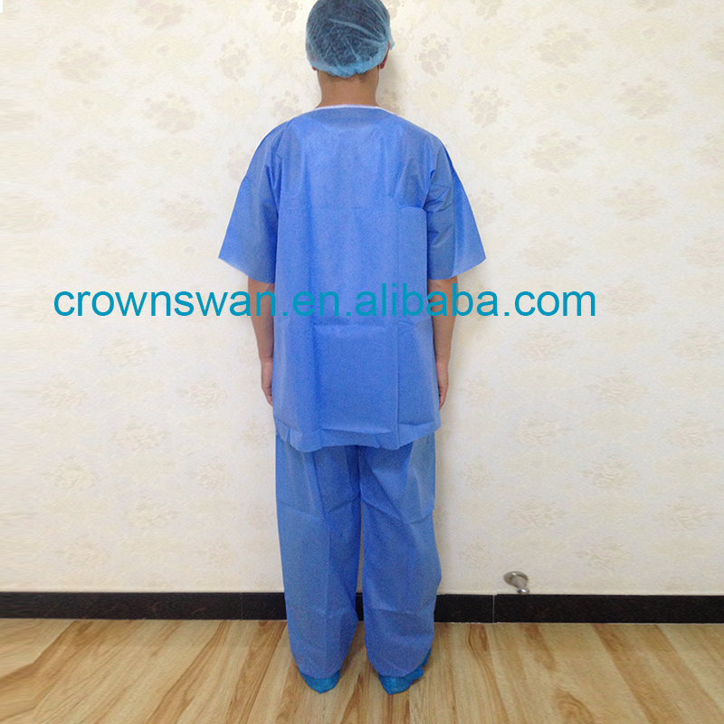 Hot Sale Medical Non Woven Antistatic Scrub Suit From China hot pants suits