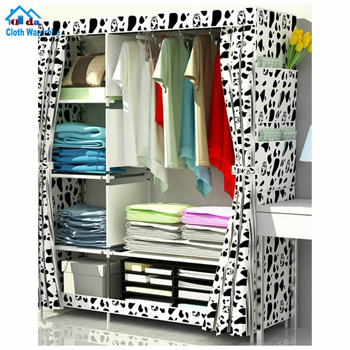 Best dust proof pp non woven assemble folding fabric wardrobe closet
