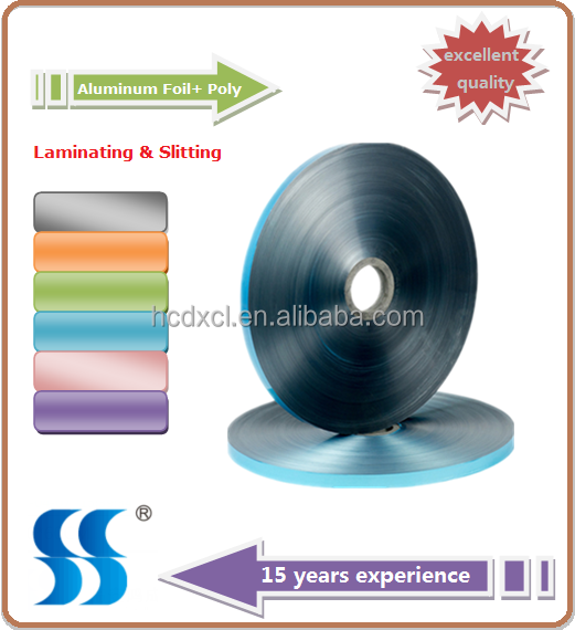Blue 20 micron Thick Laminate Film Roll with Aluminum Foil