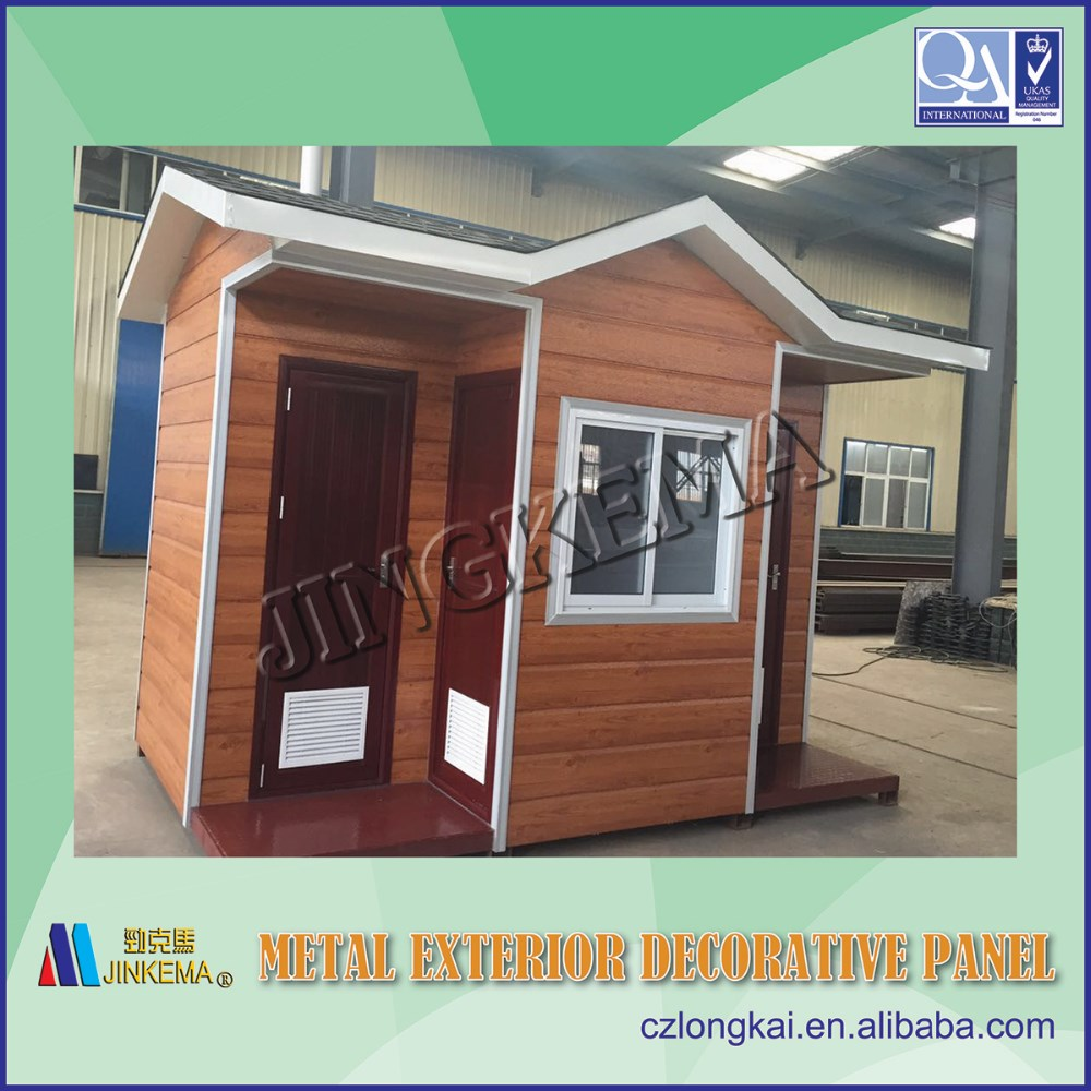 Exterior wall siding panel for steel structure prefabricated houses, buildings, villas