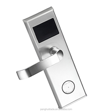 Free software Stainless steel 304 security RFID card hotel key lock for bedroom