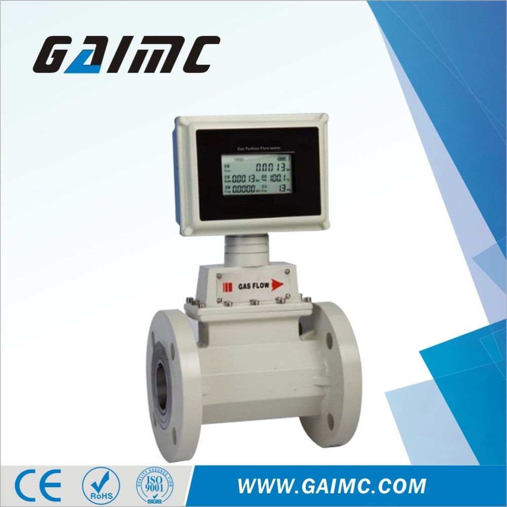 GTF100 high quality Stainless steel turbine flow meter with IC card