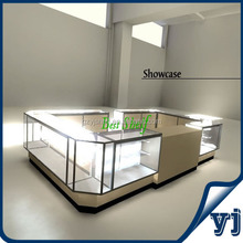 YJ-153 Best Selling Glass Aluminium Display Cabinet /Titanium Alloy Tempered Glass Case Display Case