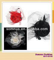 Somnus Fashion Ladies' Feather Hair Fascinator with Chicken Feather