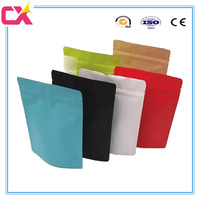 Laminated material high barrier stand up aluminum foil ziplock bag for sea food/tea/frozen food