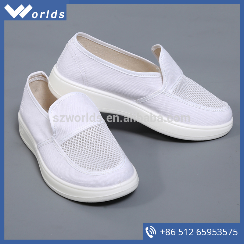 China supplier white anti-static clean room shoes