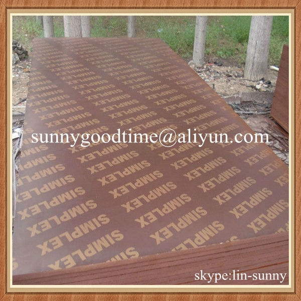Concrete imprint black or brown film faced plywood