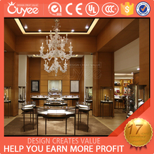 luxury stainless steel jewelry shop furniture / stainless steel retail jewellery shop fitting / wholesale jewellery shop fitting