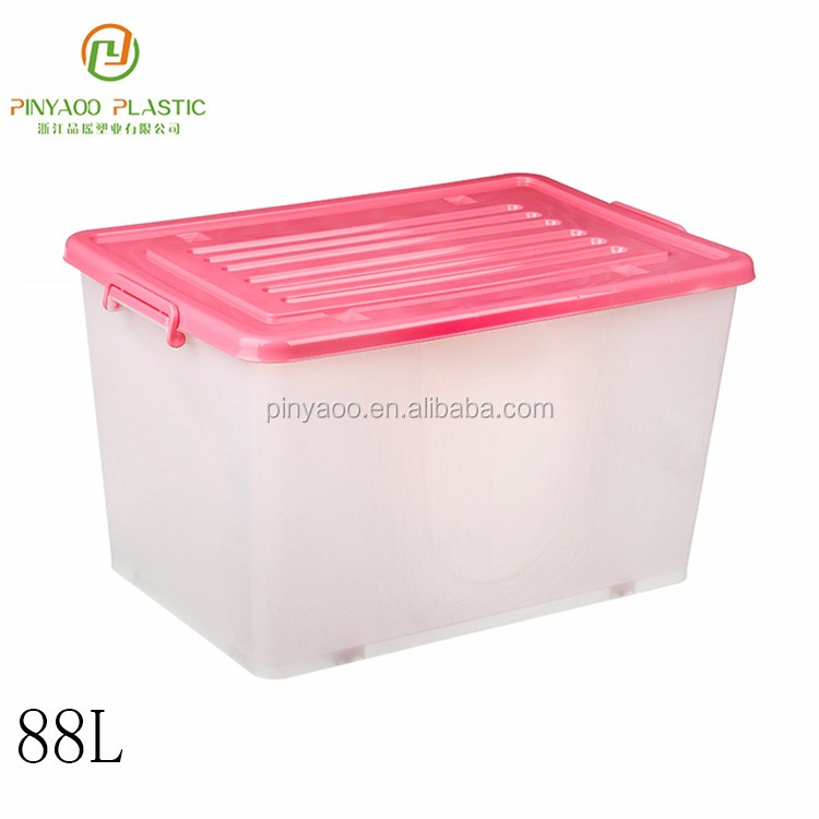 Multi purpose new product stackable large plastic storage containers with lids