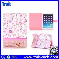 Flowers Cross Texture Diamond Crystal Magnetic Flip Stand TPU+PU Leather Case for iPad Mini 3 iPad Mini 2 Retina iPad Mini