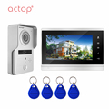 Night vision touch button video door phone with ID card unlock