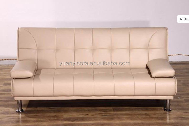 The most popular high quality PU leather sofa bed in home furniture YB2216