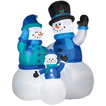 2016 Hot Sale Inflatable Snowman Family Christmas Decoration Supplier