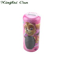 Customized cartoon tin can money box custom