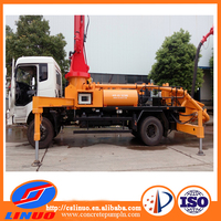 Truck mounted concrete pump truck with boom pump