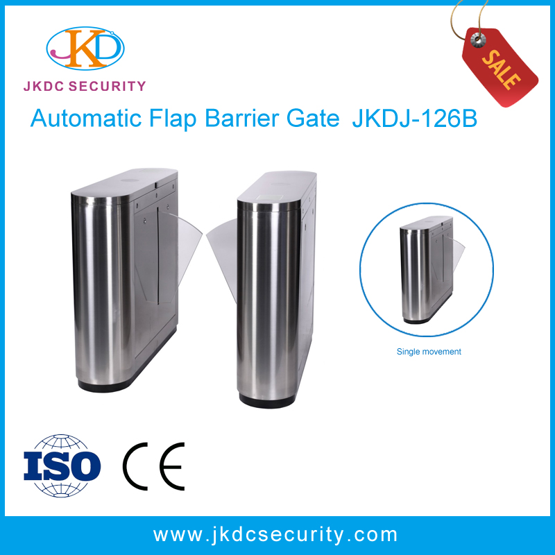 Access Control Card Flap Turnstile/Electric Flap Barrier Stainless Steel Automatic Gate