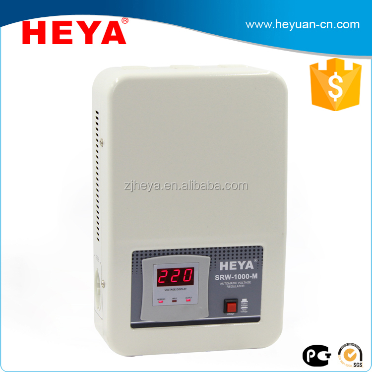 1000VA 800W 140-260V relay type wall mounted AC automatic voltage regulator/stabilizer/AVR